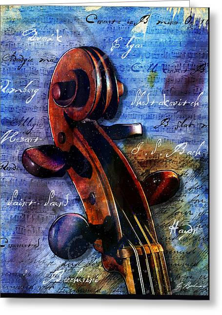 Cello Masters Greeting Card