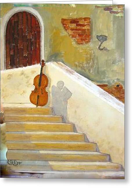 Cello No 3 Greeting Card