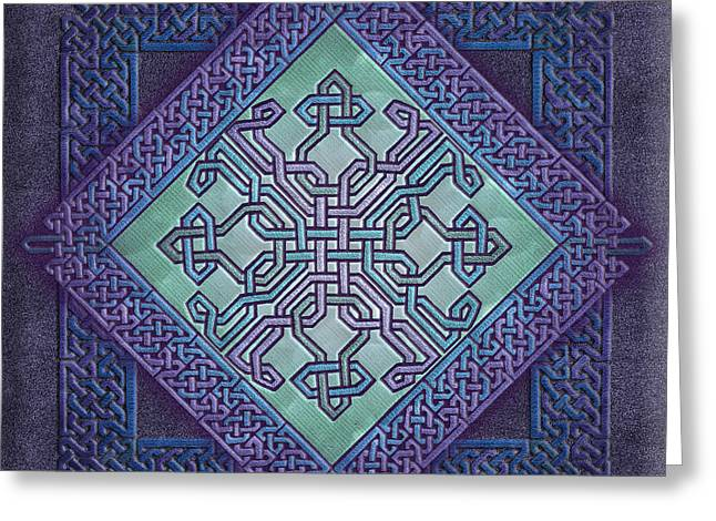 Greeting Card featuring the mixed media Celtic Avant Garde by Kristen Fox