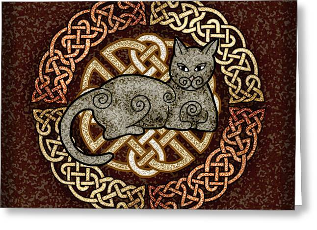 Celtic Cat Greeting Card