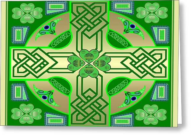 Celtic Clover Knot Greeting Card by Mike Sexton