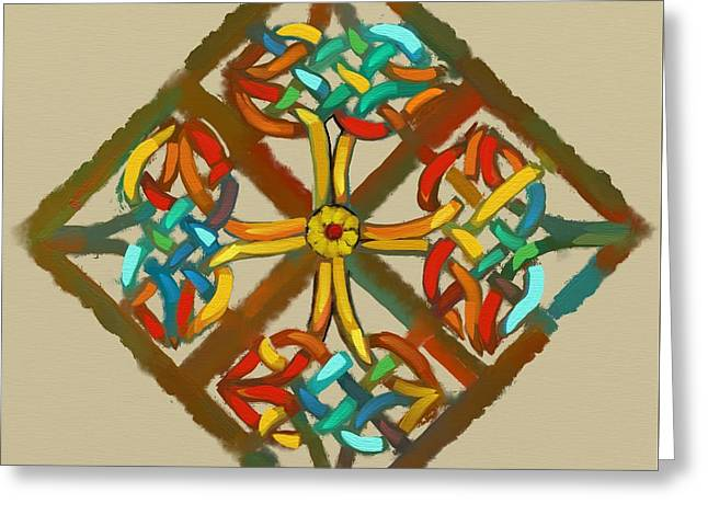 Celtic Cross 1 Greeting Card by Carrie Joy Byrnes
