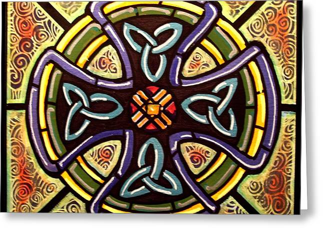 Celtic Cross 2 Greeting Card by Jim Harris