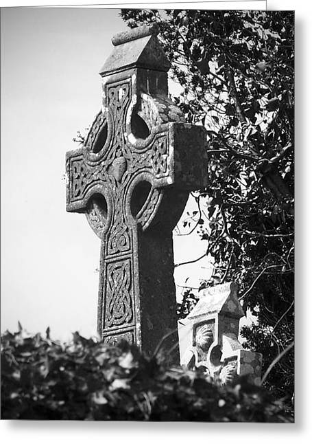 Celtic Cross At Fuerty Cemetery Roscommon Ireland Greeting Card by Teresa Mucha