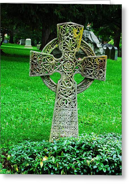 Celtic Cross  Greeting Card by Brigid Nelson