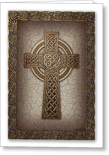 Celtic Cross Greeting Card by Ernestine Grindal