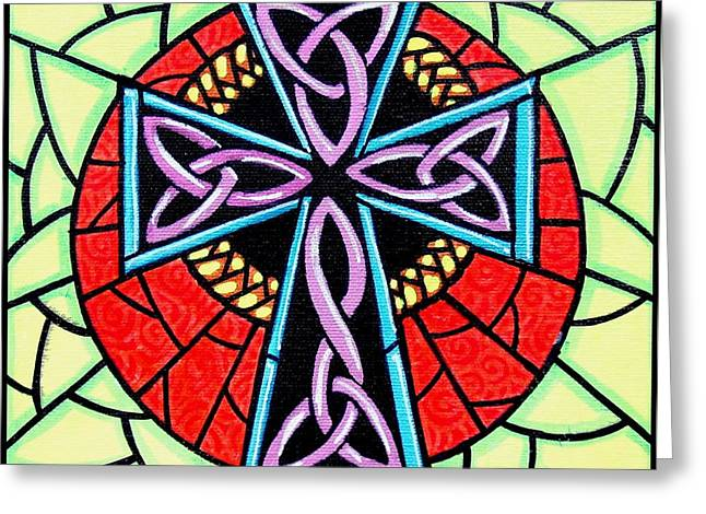 Celtic Cross Greeting Card by Jim Harris