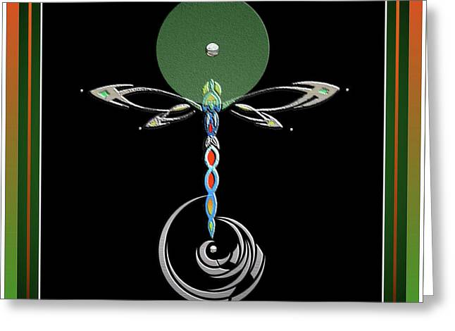Celtic Dragonfly Greeting Card
