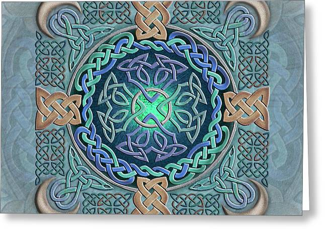 Greeting Card featuring the mixed media Celtic Eye Of The World by Kristen Fox