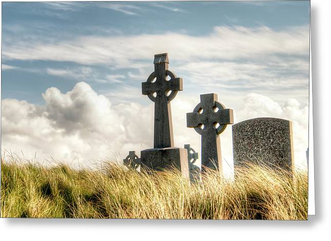 Celtic Grave Markers Greeting Card