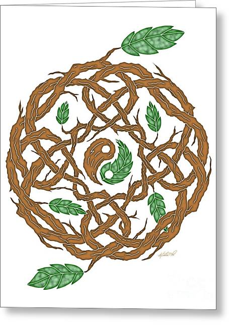 Celtic Nature Yin Yang Greeting Card