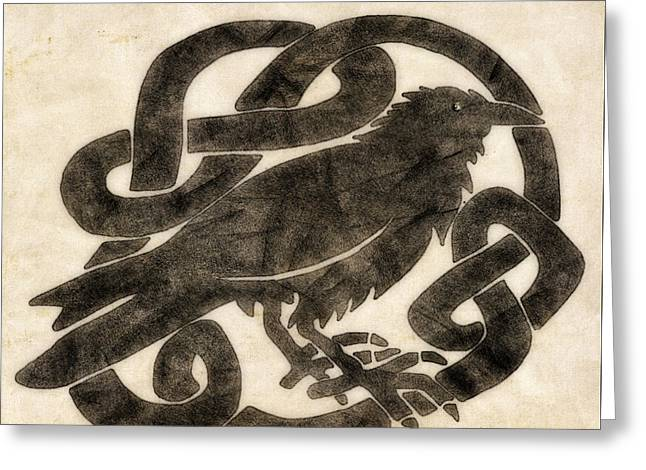 Celtic Raven Knot Greeting Card