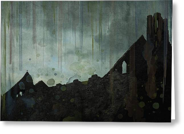 Celtic Ruins Greeting Card by Ivana Westin