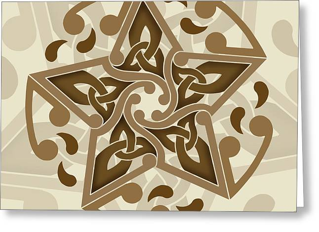Greeting Card featuring the mixed media Celtic Star by Kristen Fox