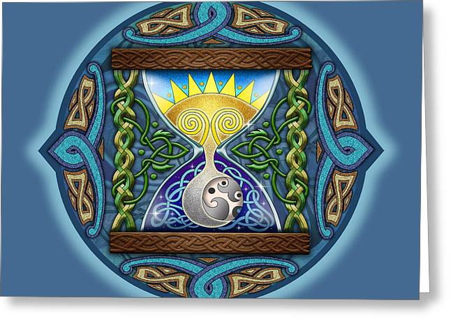 Celtic Sun Moon Hourglass Greeting Card