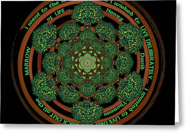 Celtic Tree Of Life Mandala Greeting Card