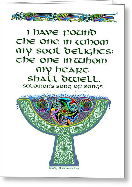Celtic Wedding Goblet Greeting Card