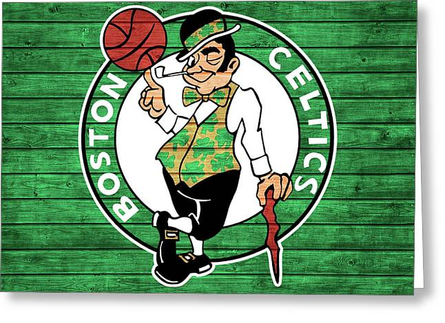 Celtics Barn Door Greeting Card
