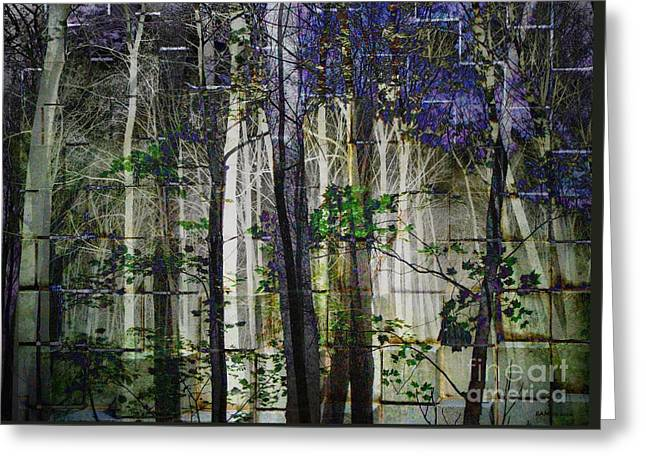 Cement Forest 2 Greeting Card by Elizabeth McTaggart