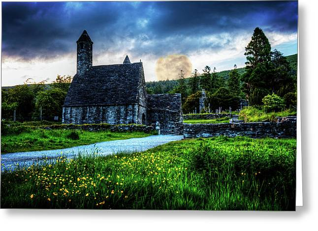 Cemetary Church At Glendalough Greeting Card