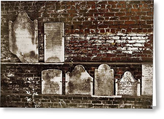 Cemetary Wall Greeting Card by JAMART Photography