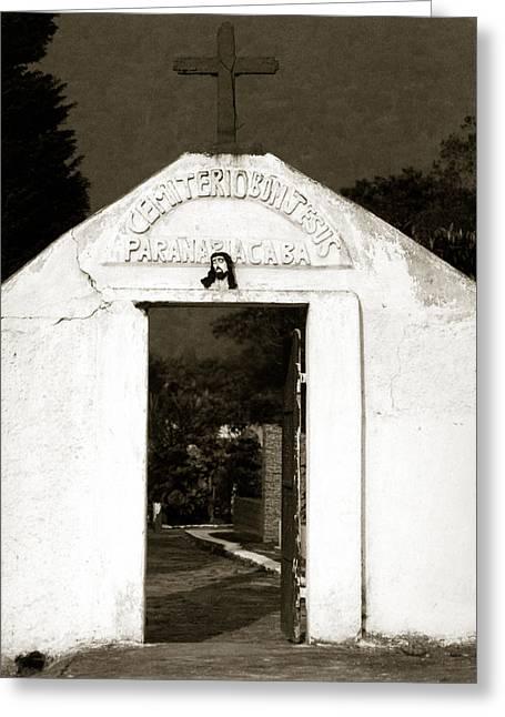 Cemetery Greeting Card by Amarildo Correa