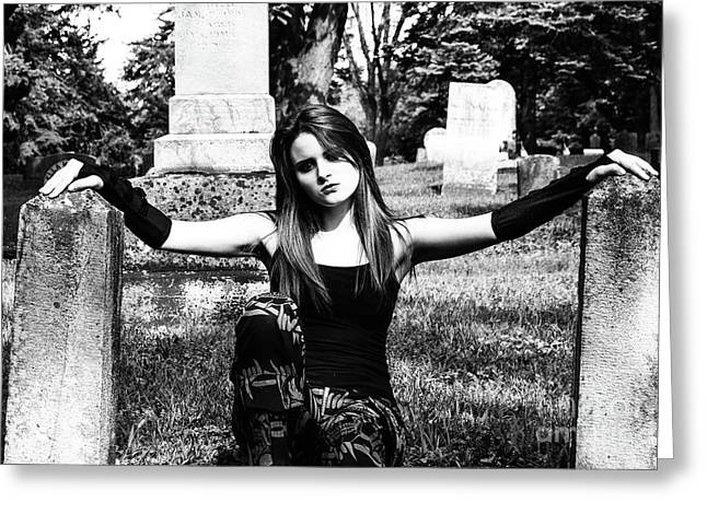 Cemetery Girl Greeting Card
