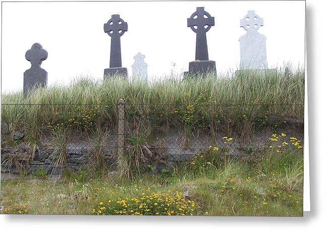 Cemetery On Inisheer Aran Islands Ireland Greeting Card by Linda Hardin