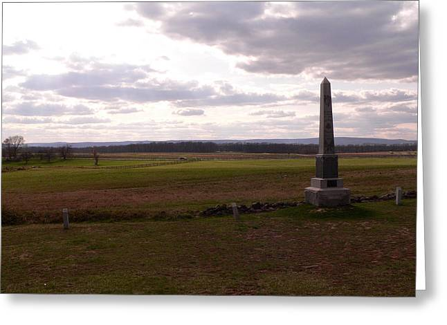 Cemetery Ridge Looking At Seminary Ridge Greeting Card