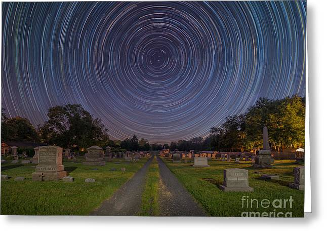 Cemetery Spins  Greeting Card