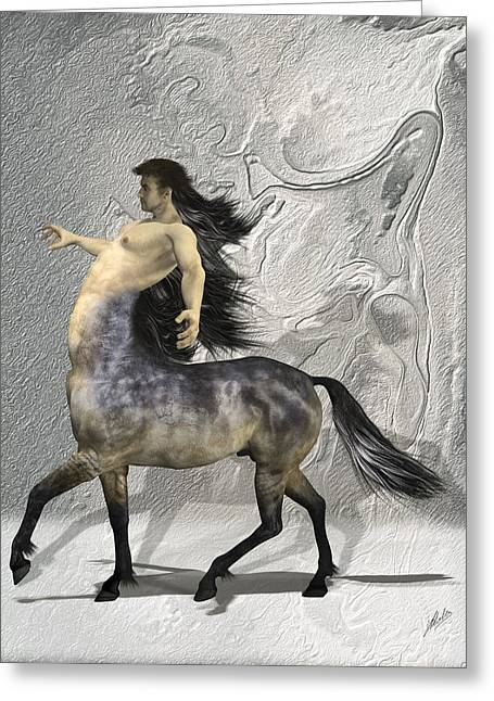 Centaur Warm Tones Greeting Card by Quim Abella