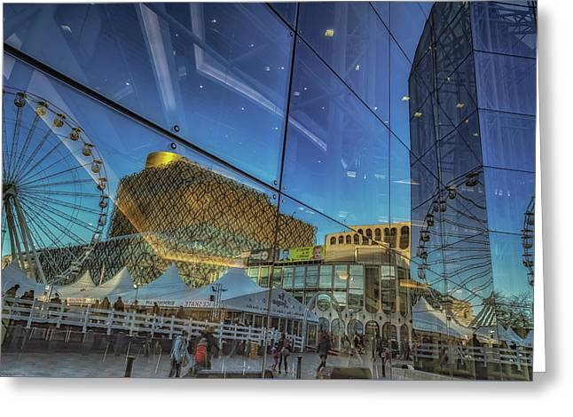 Centenary Square Reflections Greeting Card by Chris Fletcher