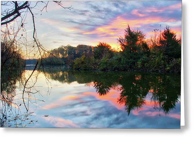 Greeting Card featuring the photograph Centennial Lake At Sunrise by Mark Dodd