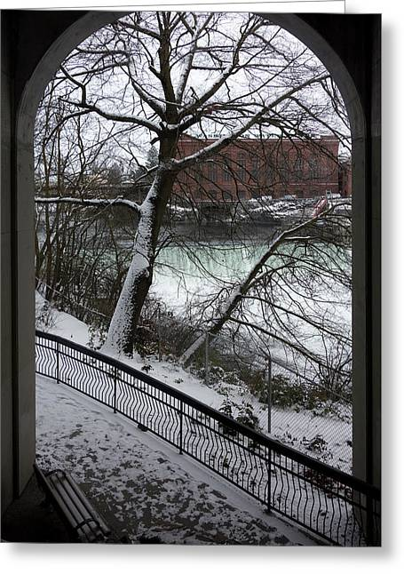 Centennial Trail At Spokane Falls Greeting Card by Daniel Hagerman