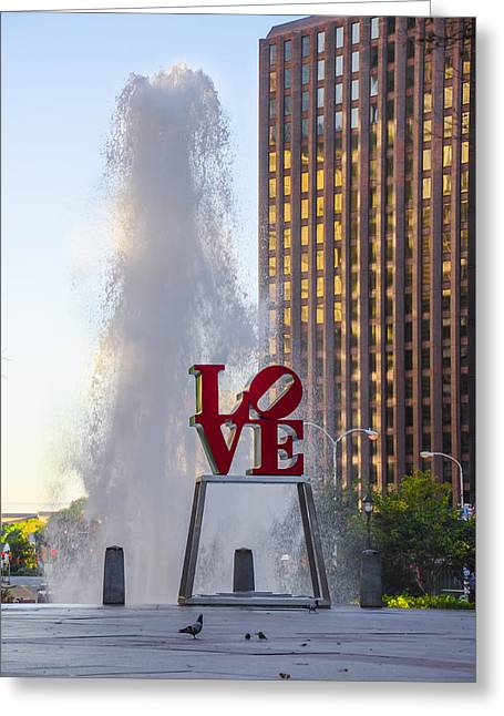 Center City Philadelphia - Love Park Greeting Card
