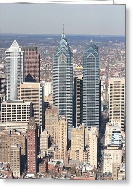 Center City Philadelphia Portrait Greeting Card by Duncan Pearson