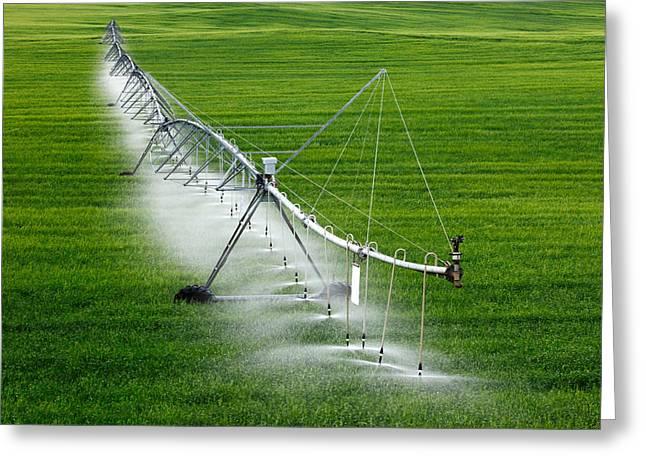 Center Pivot Irrigation Greeting Card by Todd Klassy