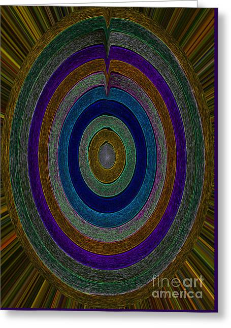 Center Sensation Greeting Card by Norma Appleton