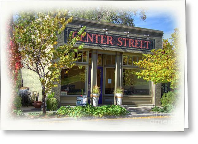 Center Street Cafe Greeting Card by Nick Gray