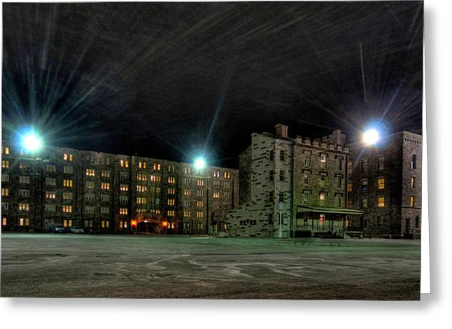Central Area At Night Greeting Card by Dan McManus