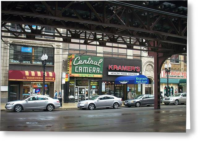 Central Camera On Wabash Ave  Greeting Card