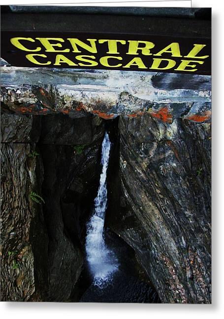 Central Cascade Bridge View Greeting Card by InTheSane DotCom
