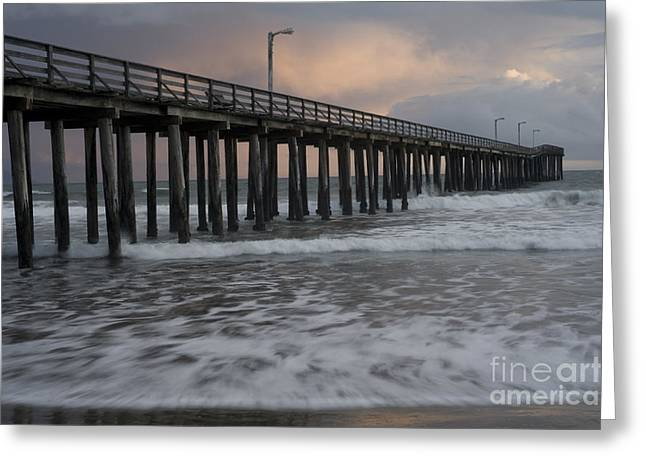 Central Coast Pier Greeting Card by Ronald Hoggard