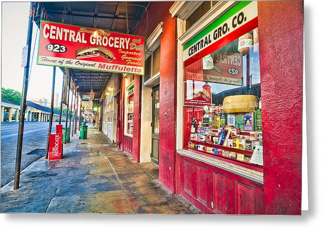 Central Grocery And Deli In The French Quarter Greeting Card