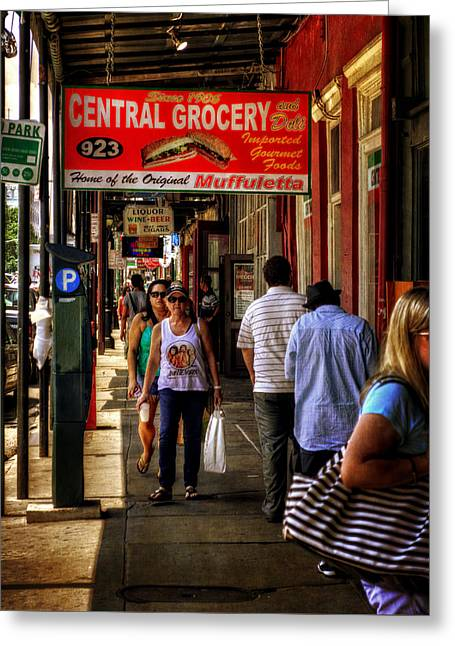 Central Grocery Muffuletta Greeting Card by Greg Mimbs