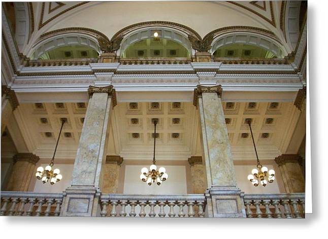 Central Library Milwaukee Interior Greeting Card