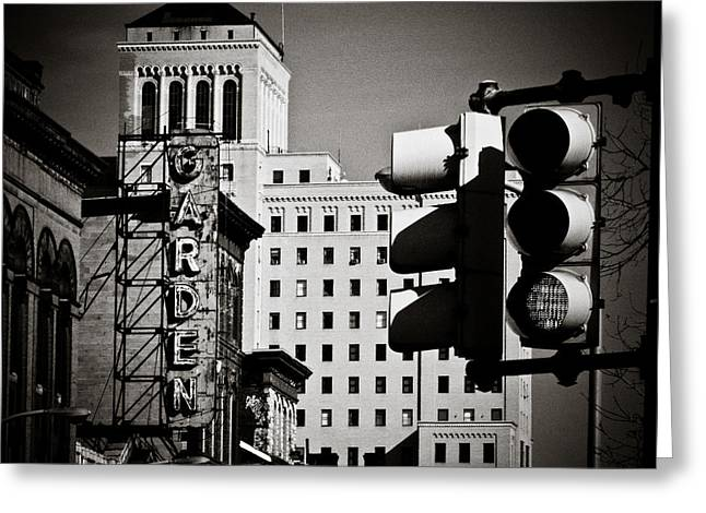 Stoplight Greeting Cards - Central Northside Greeting Card by Jessica Brawley