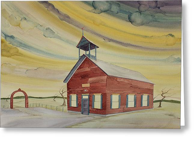 Central Ohio Schoolhouse Greeting Card