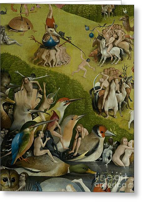 Central Panel From The Garden Of Earthly Delights Greeting Card by Hieronymus Bosch