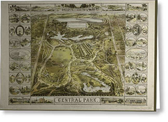 Greeting Card featuring the photograph Central Park 1863 by Duncan Pearson